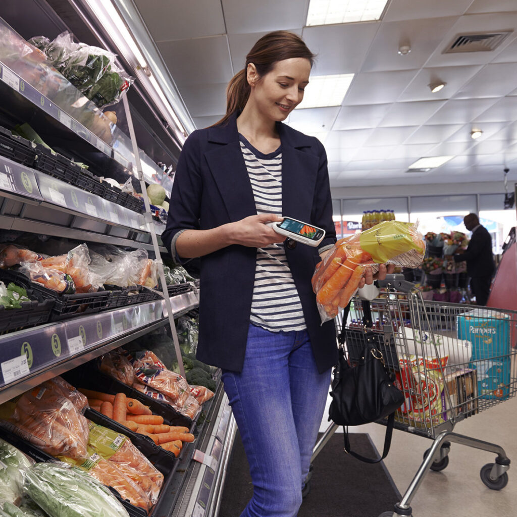 Self-scanning makes shopping easy, fast and safe.